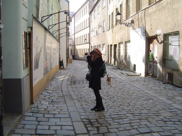 monica taking photos